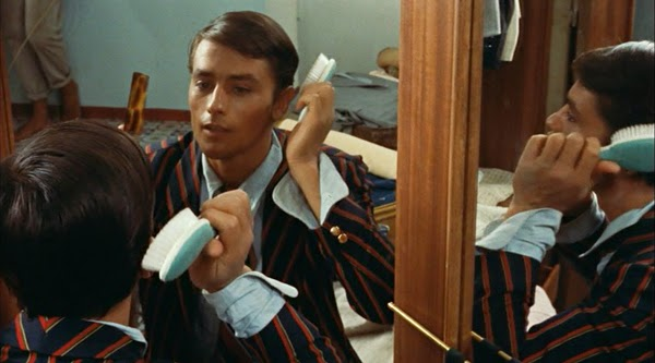 purple-noon-plein-soleil-talented-mr-ripley-1960-tom-imitates-philippe-in-mirror-criterion-review-alain-delon